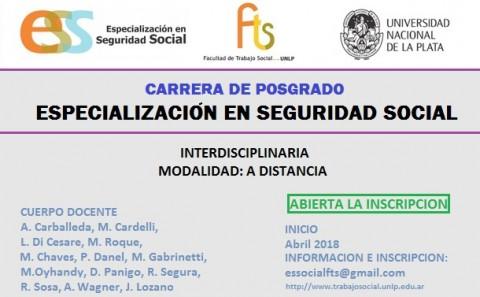 Especialización en Seguridad Social en la Universidad de La Plata