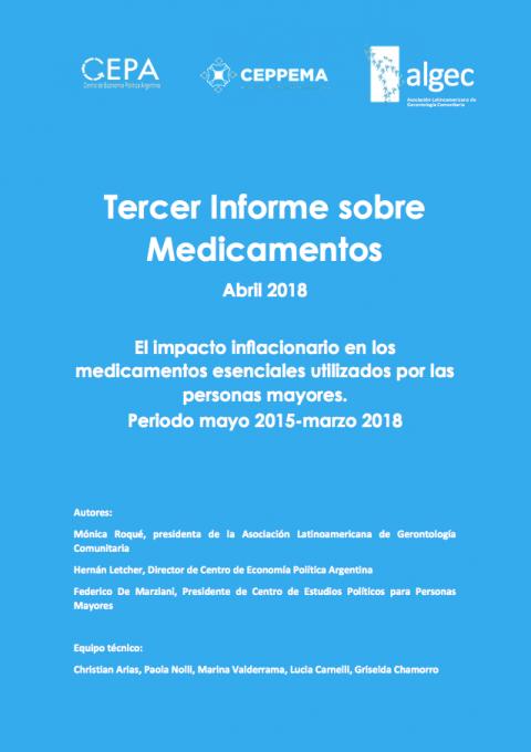 Tercer Informe sobre Medicamentos
