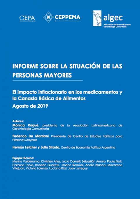 Informe sobre la situación de las personas mayores – agosto 2019