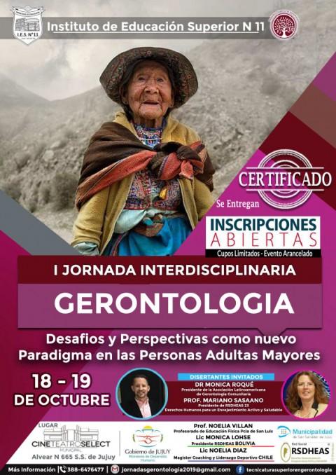 Argentina: I Jornada Interdisciplinarioa Gerontología