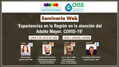 Experiencias en la Región en la atención del Adulto Mayor. COVID-19