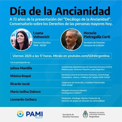 """Argentina: Conversatorio sobre """"Los Derechos de las Personas Mayores hoy"""""""