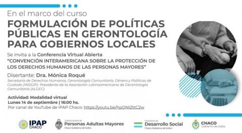 """Conferencia virtual: """"Convención Interamericana sobre la protección de los derechos humanos de las personas mayores"""
