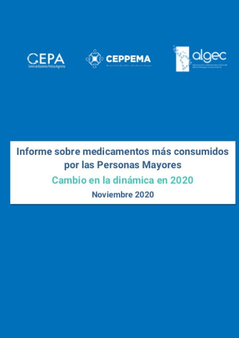 Nuevo Informe 2020 sobre los medicamentos más consumidos por las personas mayores en Argentina
