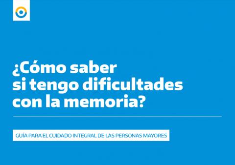 """El PAMI presentó la Guía """"¿Cómo saber si tengo dificultades con la memoria?"""""""