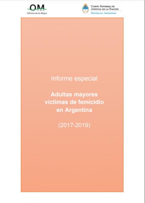 Cada 12 días una mujer adulta mayor fue víctima de femicidio en Argentina durante los años 2017-2019