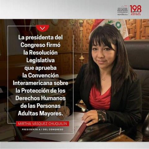 Perú se suma al grupo de países que ratificaron la Convención Interamericana sobre la Protección de los Derechos Humanos de las Personas Adultas Mayores