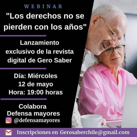 """Webinario """"Los derechos no se pierden con los años"""": lanzamiento de la revista digital de Gero Saber"""