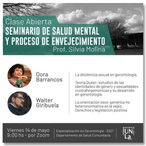 UNLA – Clase Abierta virtual con Dora Barrancos y Walter Giribuela