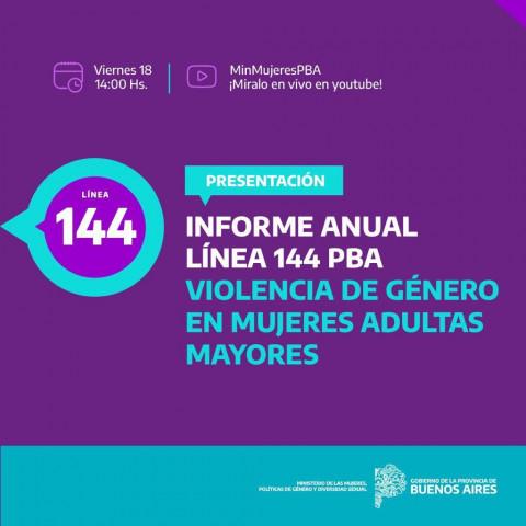 Argentina: Informe Anual de la Línea 144 PBA sobre Violencia de Género en Mujeres Adultas Mayores