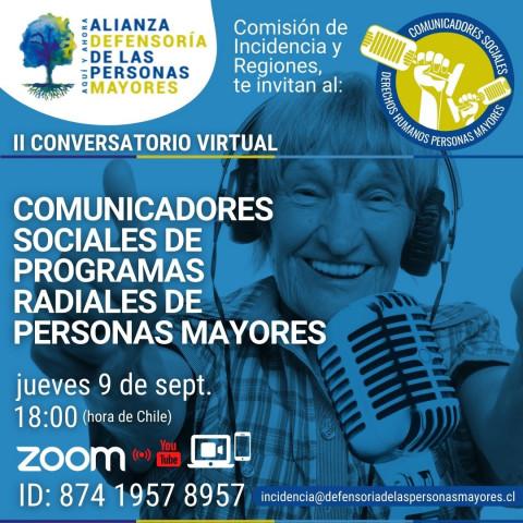 II Conversatorio Virtual: Comunicadores sociales de programas radiales de personas mayores