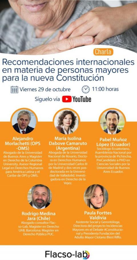 Charla virtual: Recomendaciones internacionales en materia de personas mayores para la nueva Constitución de Chile